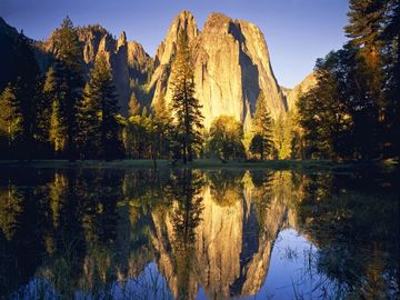 (z) Cathedral Rocks reflected in the Merced River, Yosemite Valley
