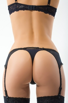 (e) (z) female bottom in sexy black lingerie and garter belt